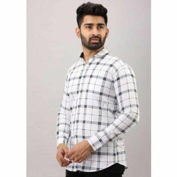 Ravishing Trendy Casual Checkered Men Cotton Shirt