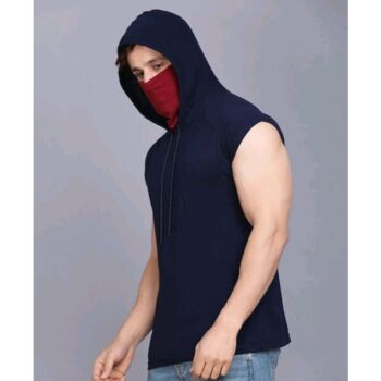 Rockhard Green Sleevless Hooded Tshirt with Mask