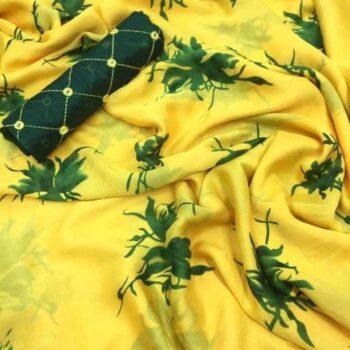 Samaira Printed Chiffon Saree with Floral Pattern