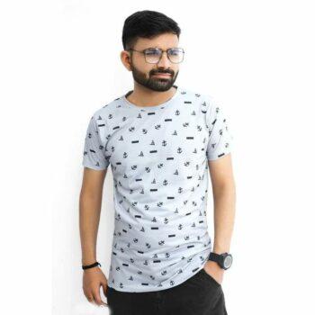 Stylish Fully Digital Printed Round Neck Tshirt for Men