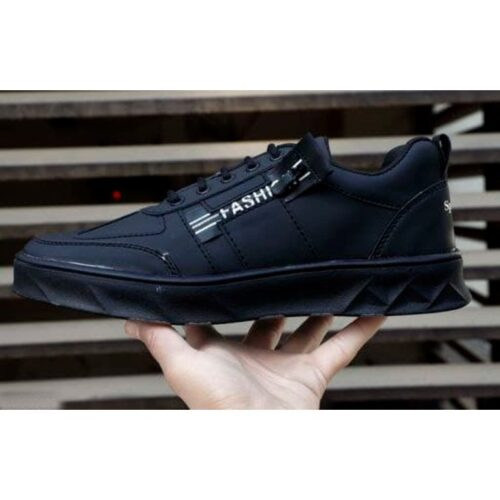 Stylish Men's Synthetic Leather Sneakers