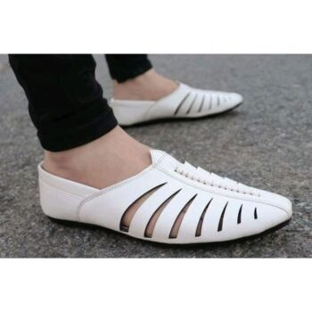 Stylish Men's White Casual Loafers