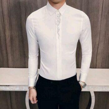 Stylish Retro Men Cotton Shirt