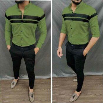 Trendy Glamorous Men Cotton Shirt