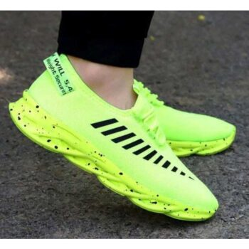 Trendy Men's Green Casual Shoes