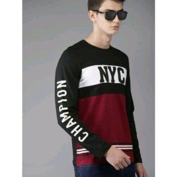 Trendy Printed Men Cotton Tshirt