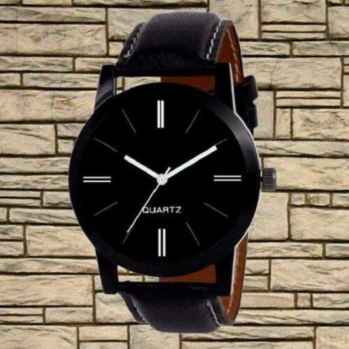 Trendy Black Watch for Men