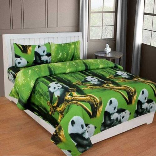 3D Polycotton Printed Double Bedsheet