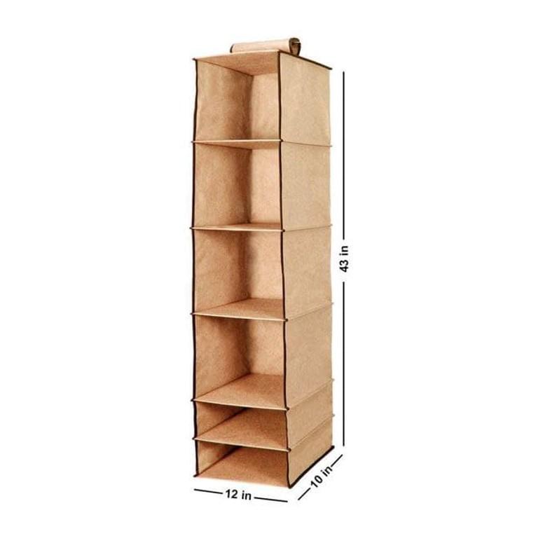 6 Shelves Foldable Hanging Wardrobe Organizers 1