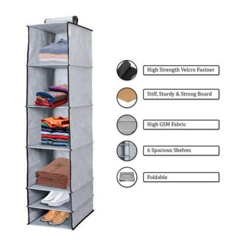 6 Shelves Foldable Hanging Wardrobe Organizers 15