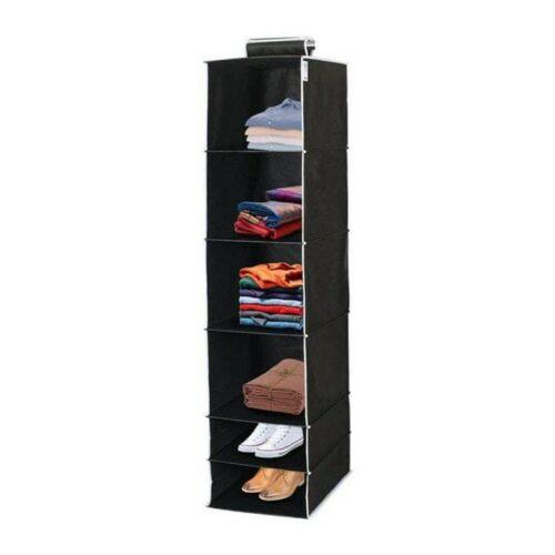 6 Shelves Foldable Hanging Wardrobe Organizers 5