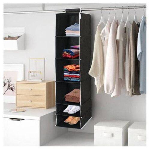 6 Shelves Foldable Hanging Wardrobe Organizers