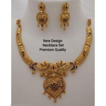 Adorable Gold Plated Necklace Set