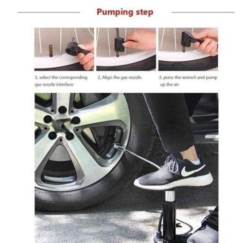 Air Pump Portable Foot Activated with Pressure Gauge Air Pump 2