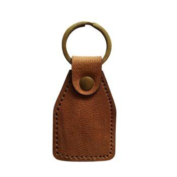 Aurik Elegant Genuine Leather Key Ring Key Chain for Bike, Car, Almirah with Stainless Steel Holder