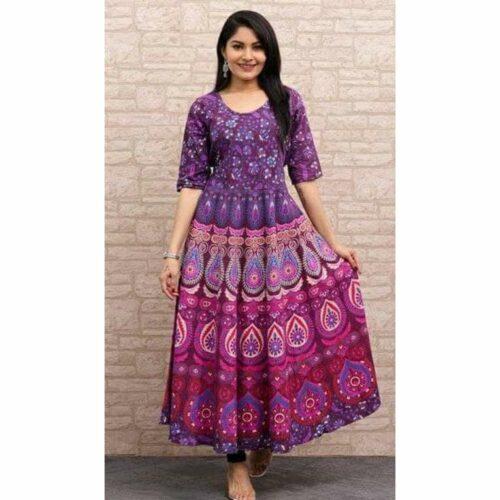 Authentic Jaipuri Printed Cotton Gown
