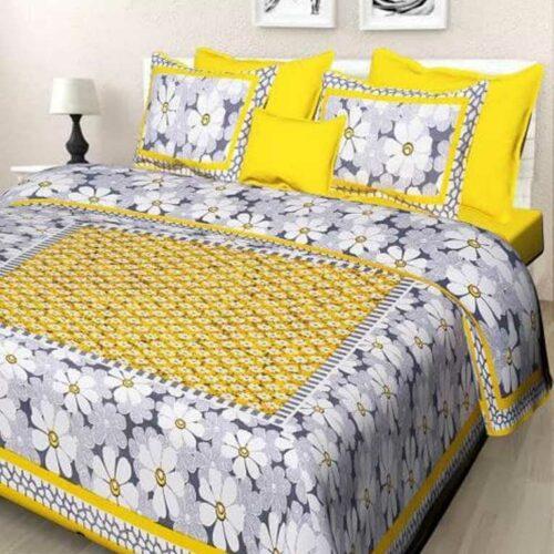 Cotton Floral Printed Bedsheet