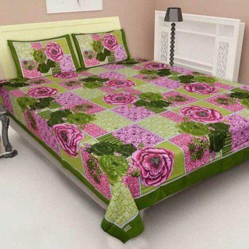 Cotton Floral Printed Jaipuri Bedsheet