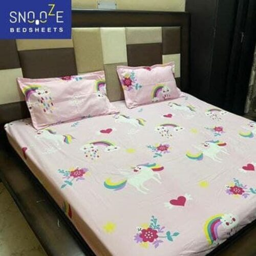 Elastic Fitted Double Bedsheet
