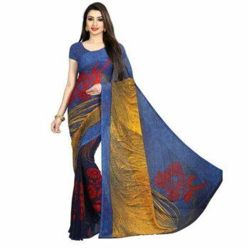 Elegant Georagette Printed Saree