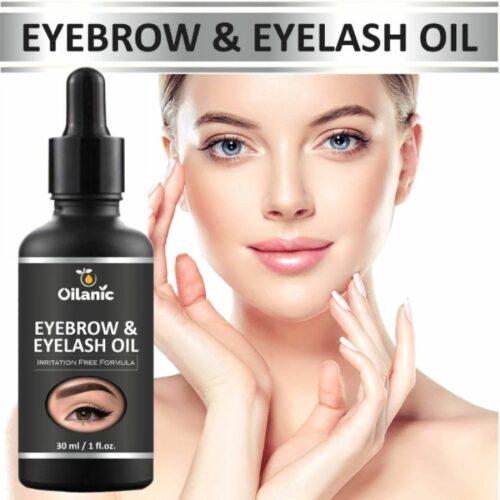 Oilanic Eyebrow & Eyelash Growth Oil for Women 30 ml (Black)