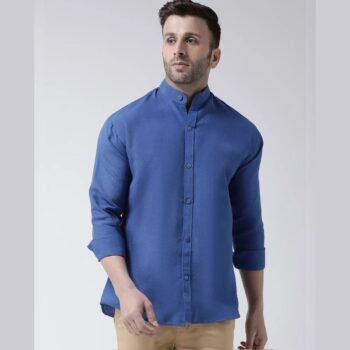 Full Sleeves Cotton Casual Chinese Neck Shirt