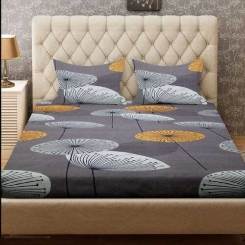 Glace Cotton Fitted Double Bedsheet