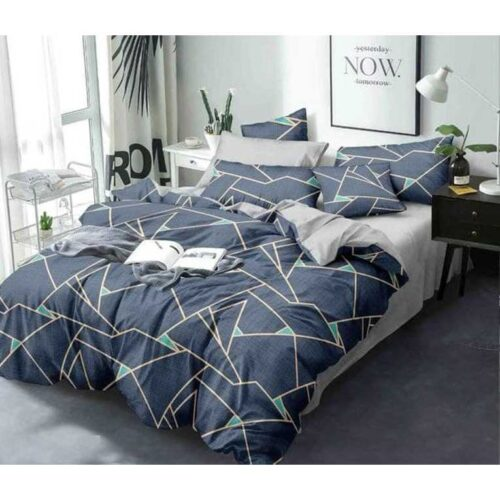 Glace Cotton Printed Double Bedsheet