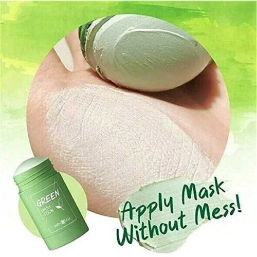 Green Tea Purifying Clay Stick Mask And Deep Cleansing Oil Control And Anti Acne Solid And Fine Exfoliating Mask 40g 1