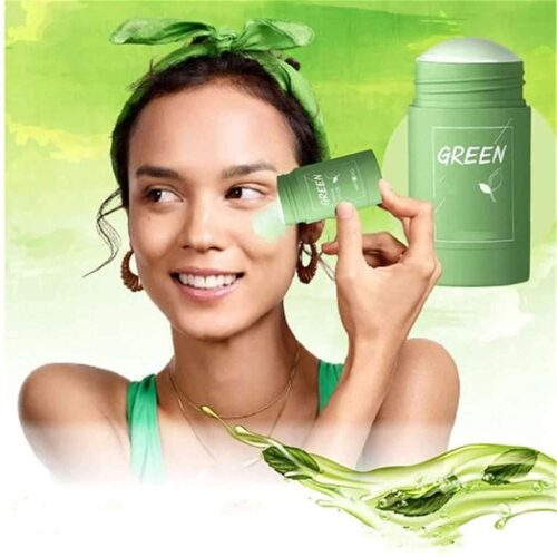 Green Tea Purifying Clay Stick Mask And Deep Cleansing Oil Control And Anti Acne Solid And Fine Exfoliating Mask 40g 3
