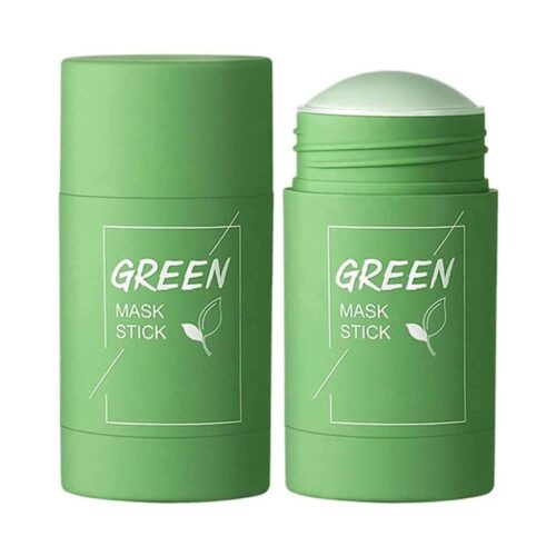 Green Tea Purifying Clay Stick Mask, And Deep Cleansing Oil Control And Anti-Acne Solid And Fine, Exfoliating Mask 40g