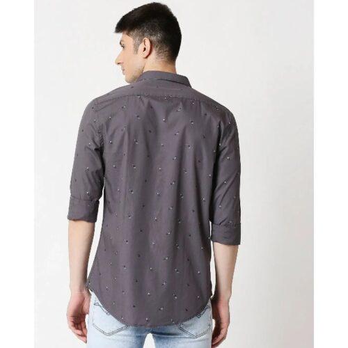 Grey Print AOP Shirt for Men