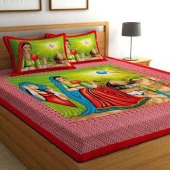 Jaipuri Printed Bedsheet Cotton Double Bedsheet