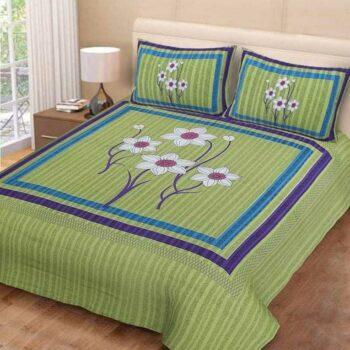 Jaipuri Printed Pure Cotton Double Bedsheet
