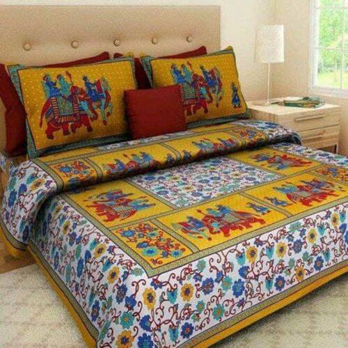 Jaipuri Printed Rajasthani Cotton Double Bedsheet