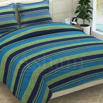 Khadi Striped Cotton Double Bedsheet