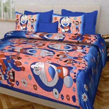Kids Bedsheet Cartoon Printed Cotton Bedsheet