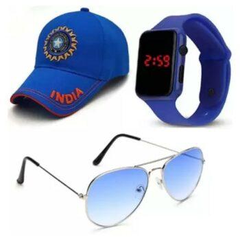 Men Accessories Combo - Watch, Cap and Sunglass Combo