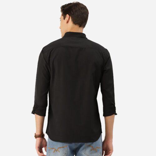 Men Black Solid Classic Shirt 1