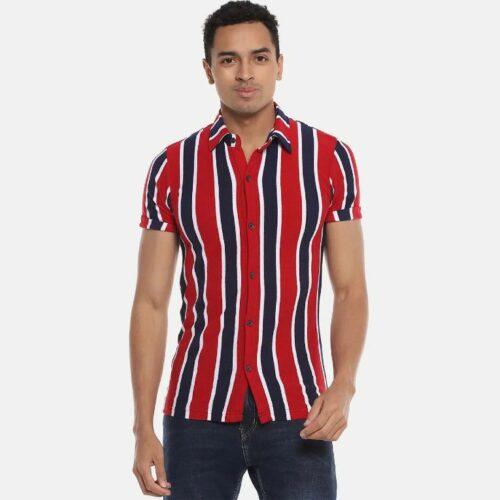 Men Striped Stylish Half Sleeve Casual Shirts