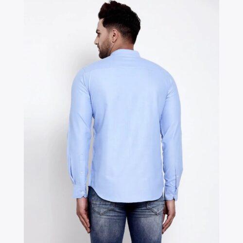 Mens Blue Solid Shirt 1