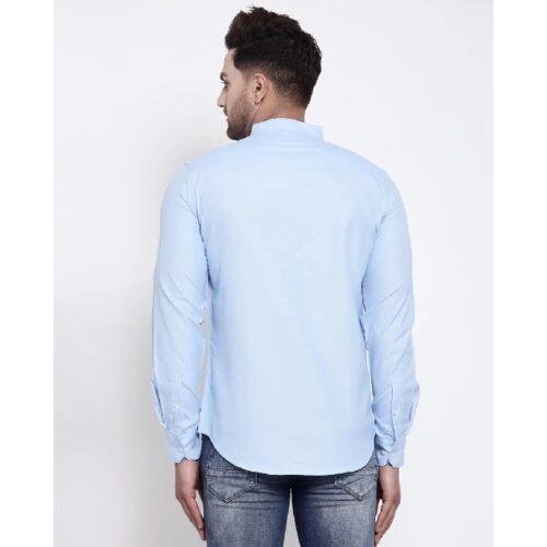 Mens Blue Solid Shirt 3