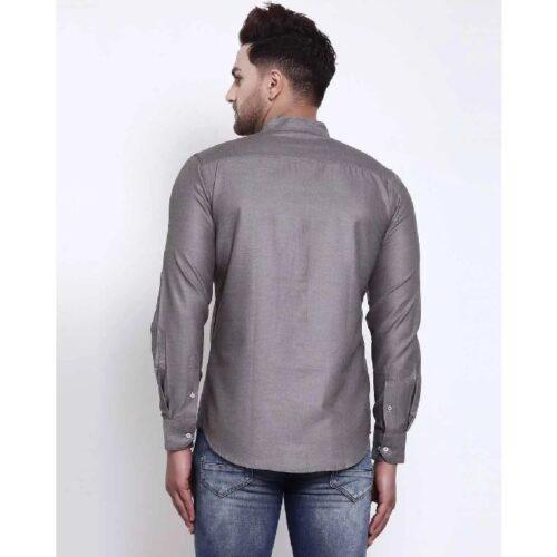 Mens Grey Solid Shirt 1