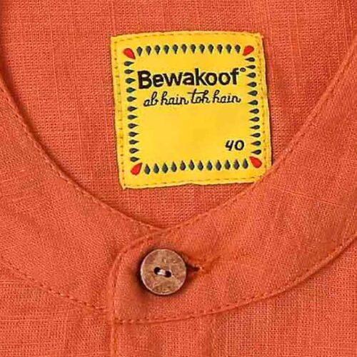 Mens Solid Orange Tape Shirt 5