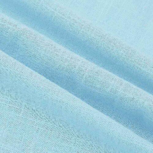 Mens Solid Sky Blue Tape Shirt 6