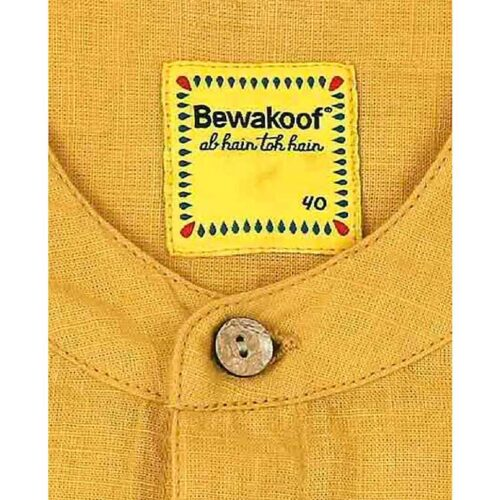 Mens Solid Sky Yellow Tape Shirt 3