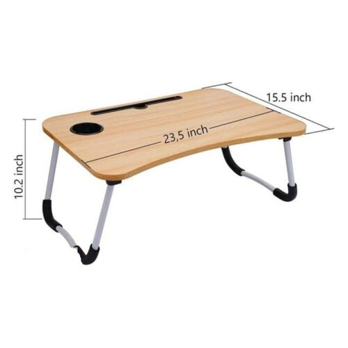 Multi-Purpose Laptop Desk for Study and Reading with Foldable Non-Slip Legs Reading Table Tray with Cup Holder, Laptop Table, Laptop Stands, Laptop Desk, Foldable Study Laptop Table, Study Table