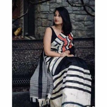 New Trend Printed Cotton Saree