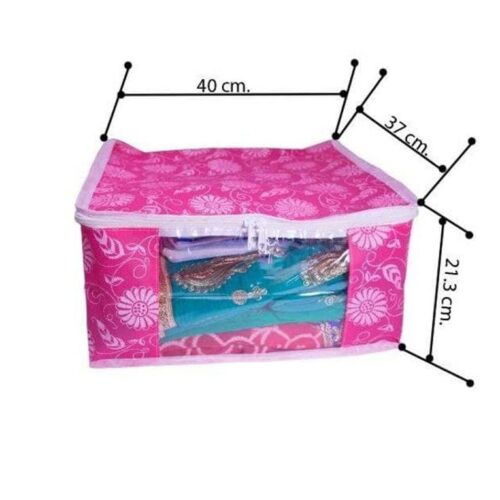Non Woven Printed Saree, Suit, Clothes Organizer (Pack of 12)
