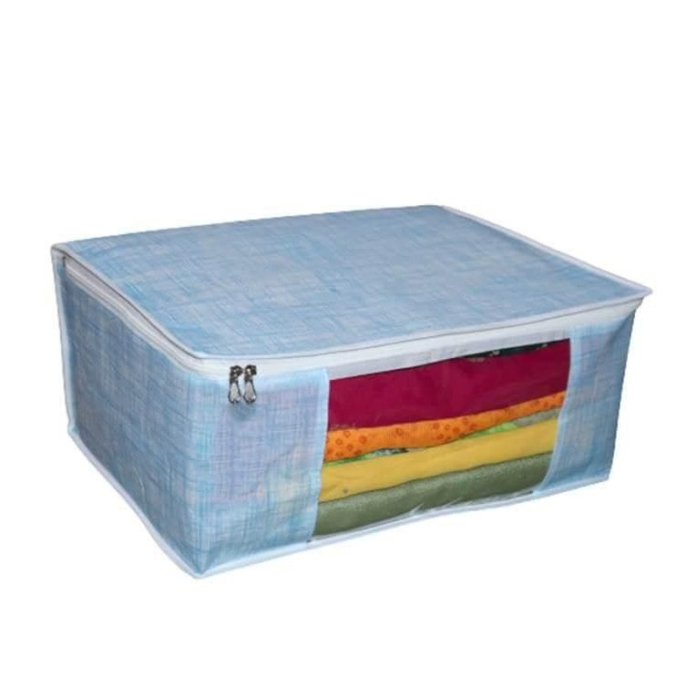 Non Woven Storage Organizer Underbed Storage Bag Blanket Cover Multipurpose Pack of 3 2